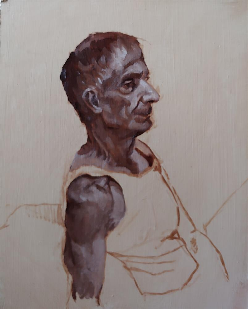 """Figure Painting Class Day 1"" original fine art by Edward Watson"