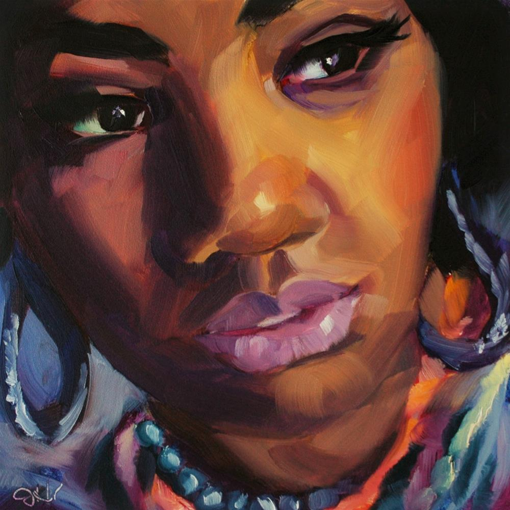 """""""Glamorous"""" original fine art by Janette Harter"""