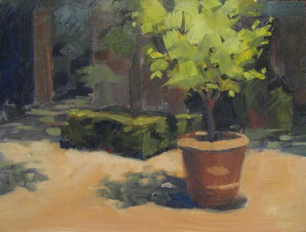 """""""St Simons, Brubaker Garden  9x12  oil"""" original fine art by Claudia Hammer"""