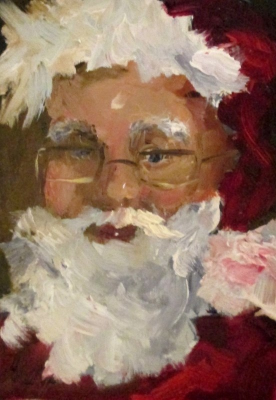 """Santa"" original fine art by Delilah Smith"