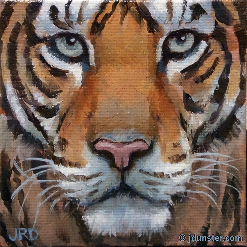 """Mini Tiger"" original fine art by J. Dunster"