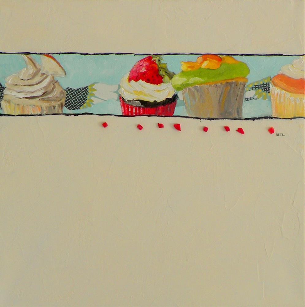 """Cupcake Parade © Saundra Lane Galloway"" original fine art by Saundra Lane Galloway"