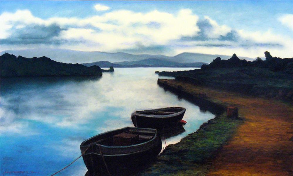 """Galway Reflections II"" original fine art by Joe Fitzgerald"