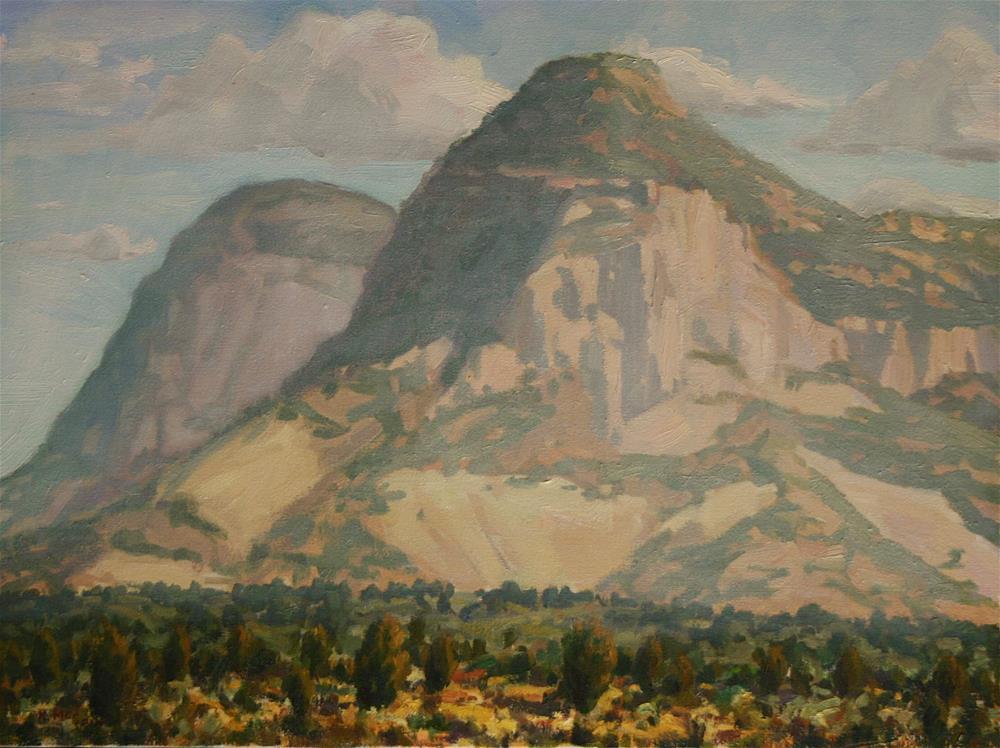 """Misty Mountains"" original fine art by K.R. McCain"