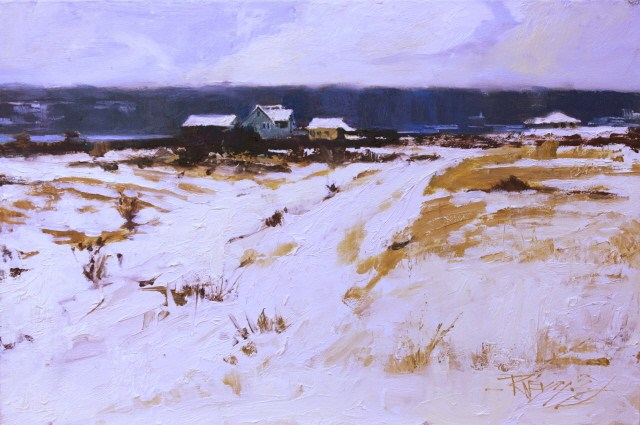 """""""Whidby Island Snowfield plein air landscape painting by Robin Weiss"""" original fine art by Robin Weiss"""