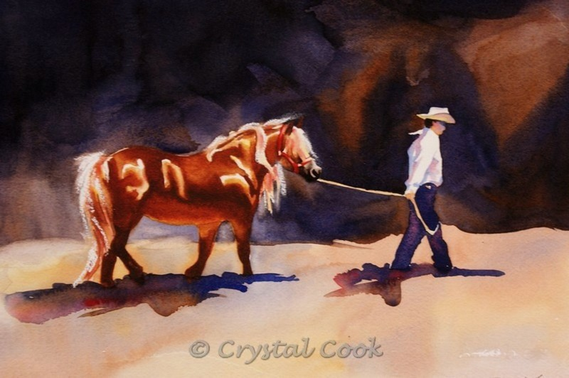 """Headed In"" original fine art by Crystal Cook"