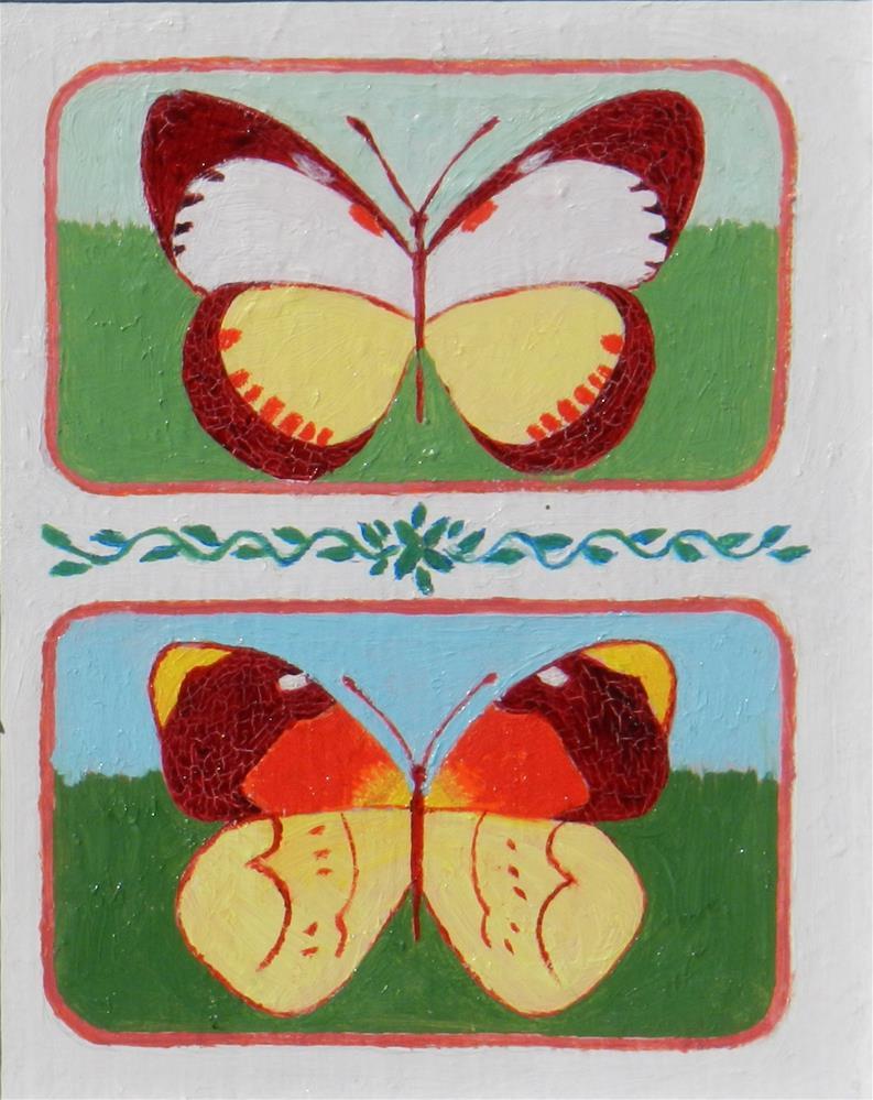 """""""Double Butterflies #1"""" original fine art by Velma Davies"""