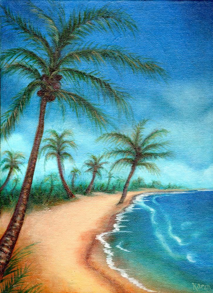 """Along the Cove"" original fine art by Karen Roncari"