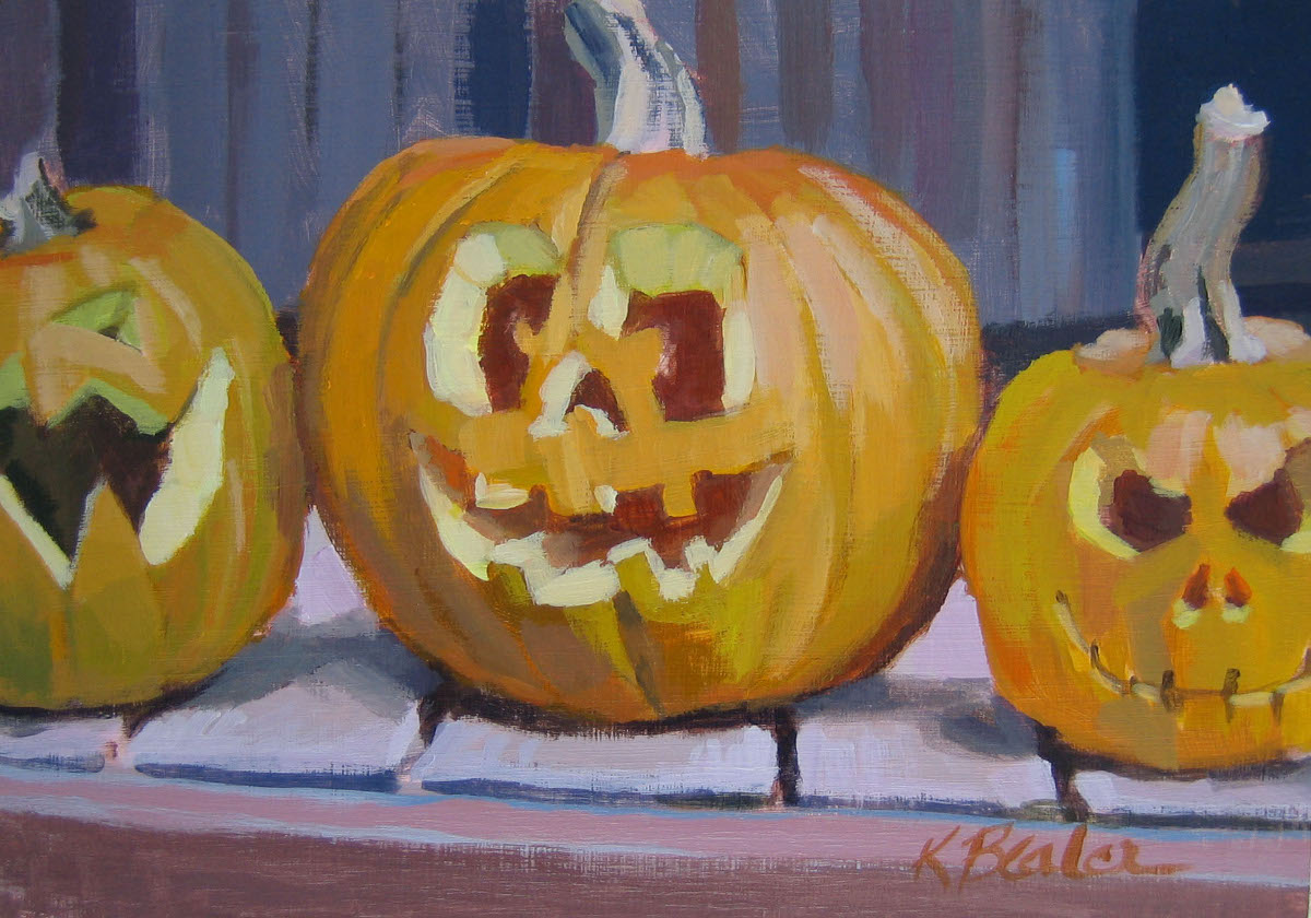 """Happy Halloween"" original fine art by Kaethe Bealer"
