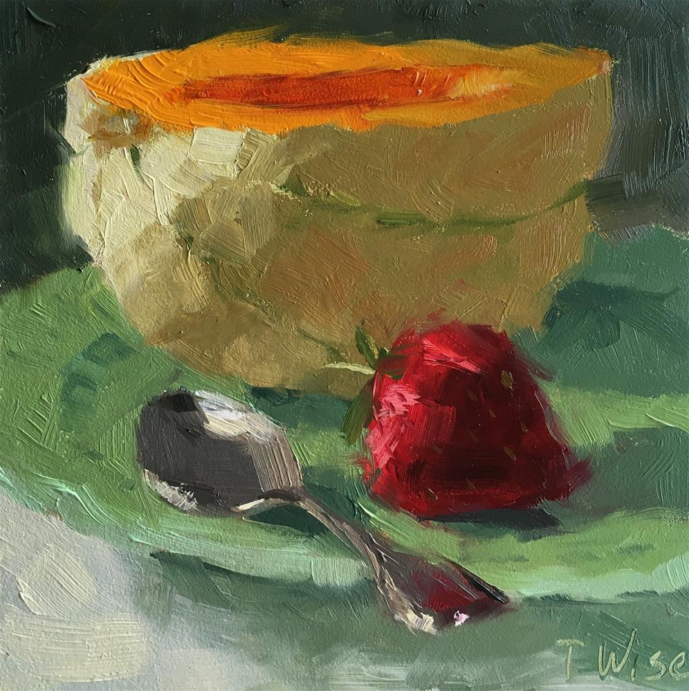 """Summer Melon"" original fine art by Tracy Wise"