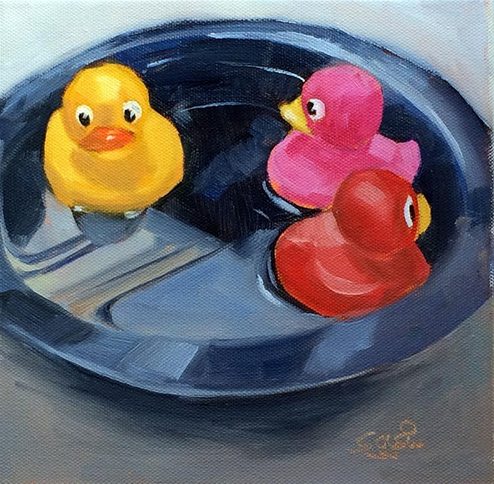 """""""R - is for Rubber Duckies"""" original fine art by Suzanne Gysin"""