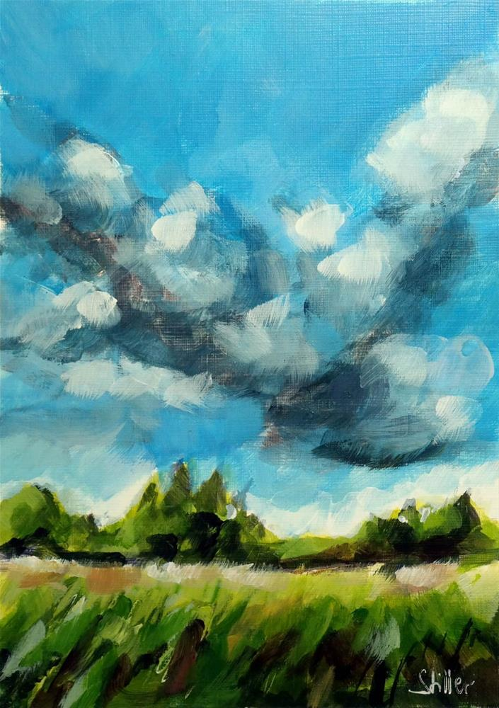 """2061 Cloud Formation Eta"" original fine art by Dietmar Stiller"