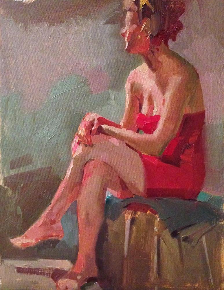 """Red Reverie"" original fine art by Sarah Sedwick"