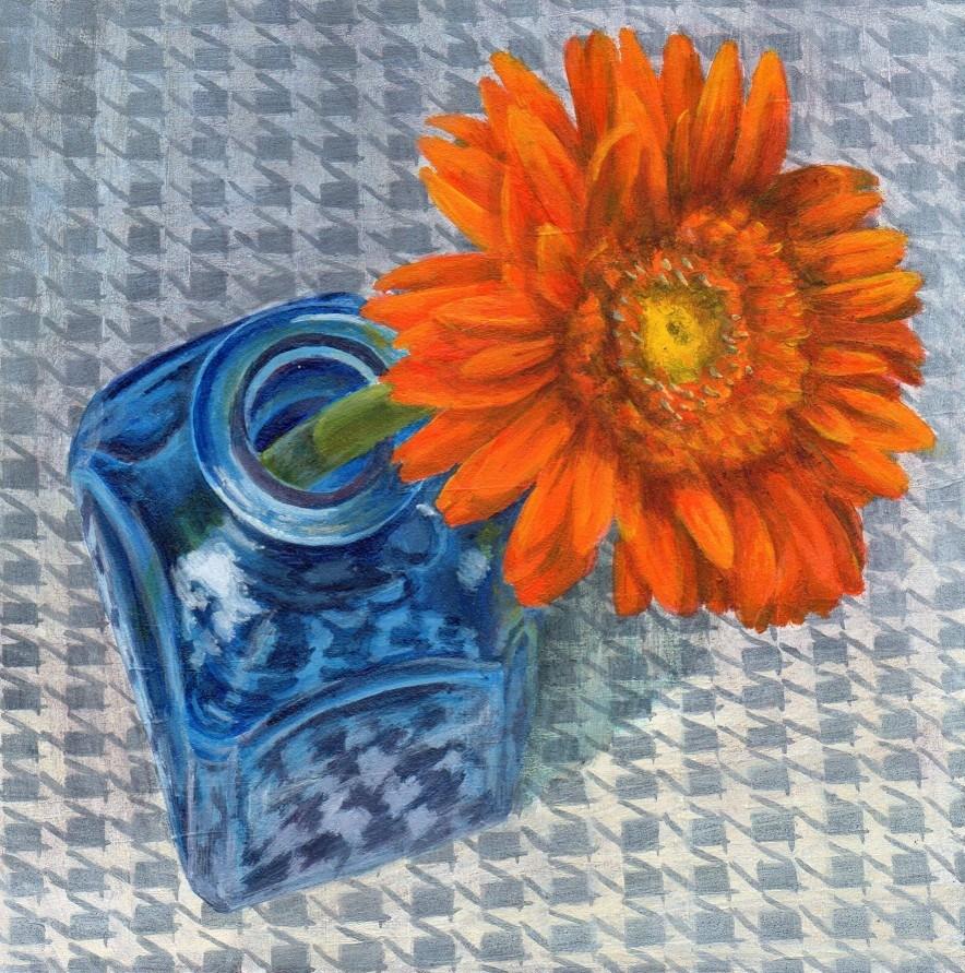 """Wednesday in a Cafe"" original fine art by Debbie Shirley"