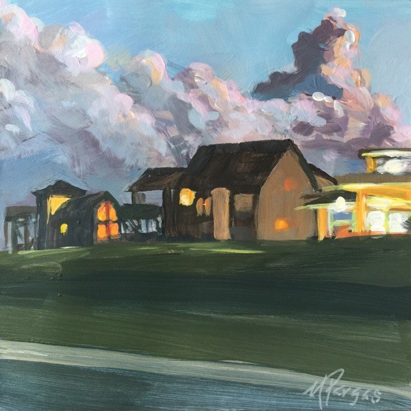 """""""Dairy Queen On The Right!"""" original fine art by Mary Pargas"""