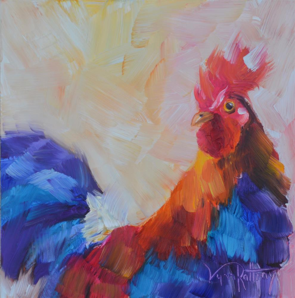 """Leghorn"" original fine art by Lynn Rattray"