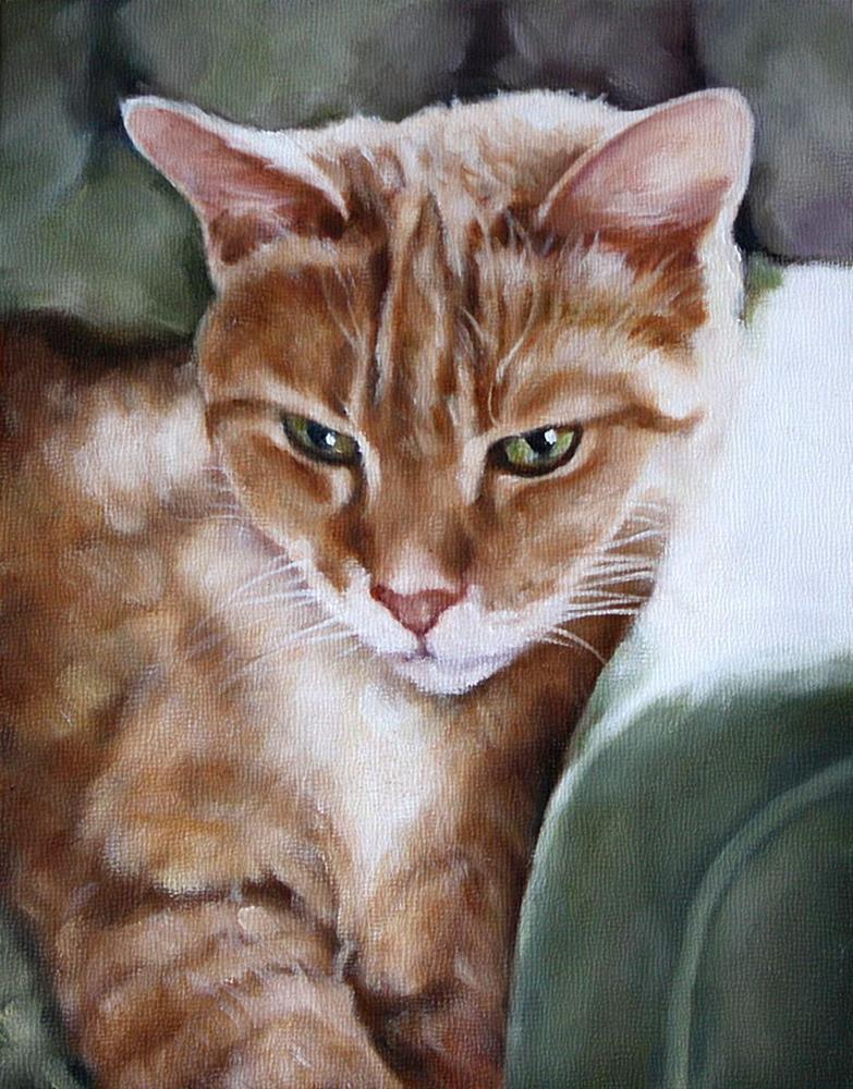 """GreenEyes"" original fine art by Carolyn McQuarters"