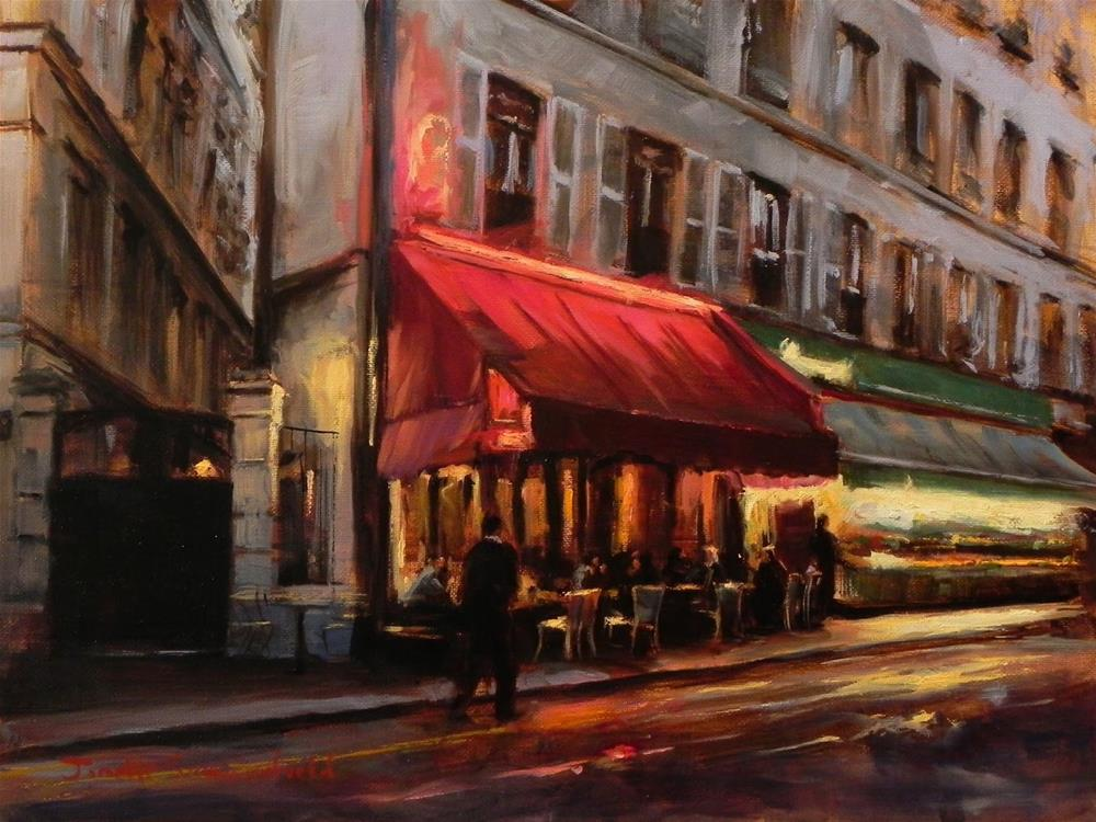 """Dusk in Montmartre"" original fine art by Jonelle Summerfield"