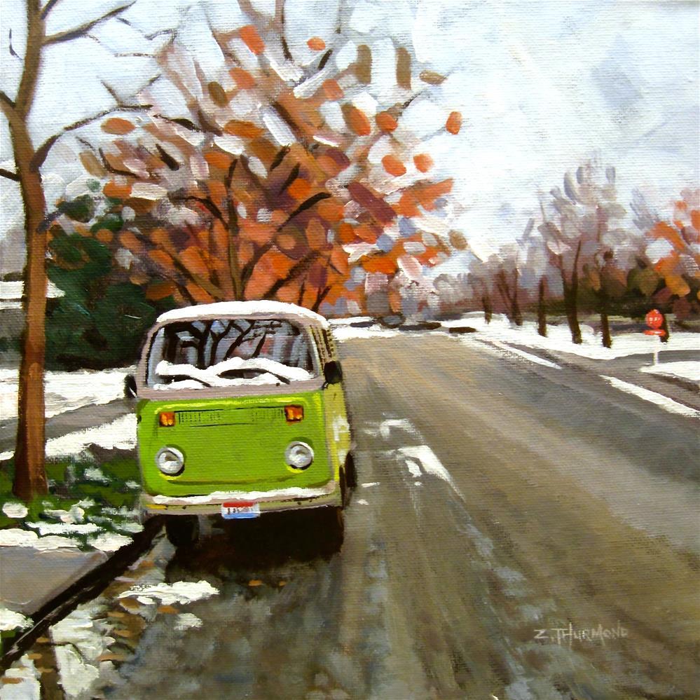 """Green on Grey"" original fine art by Zack Thurmond"