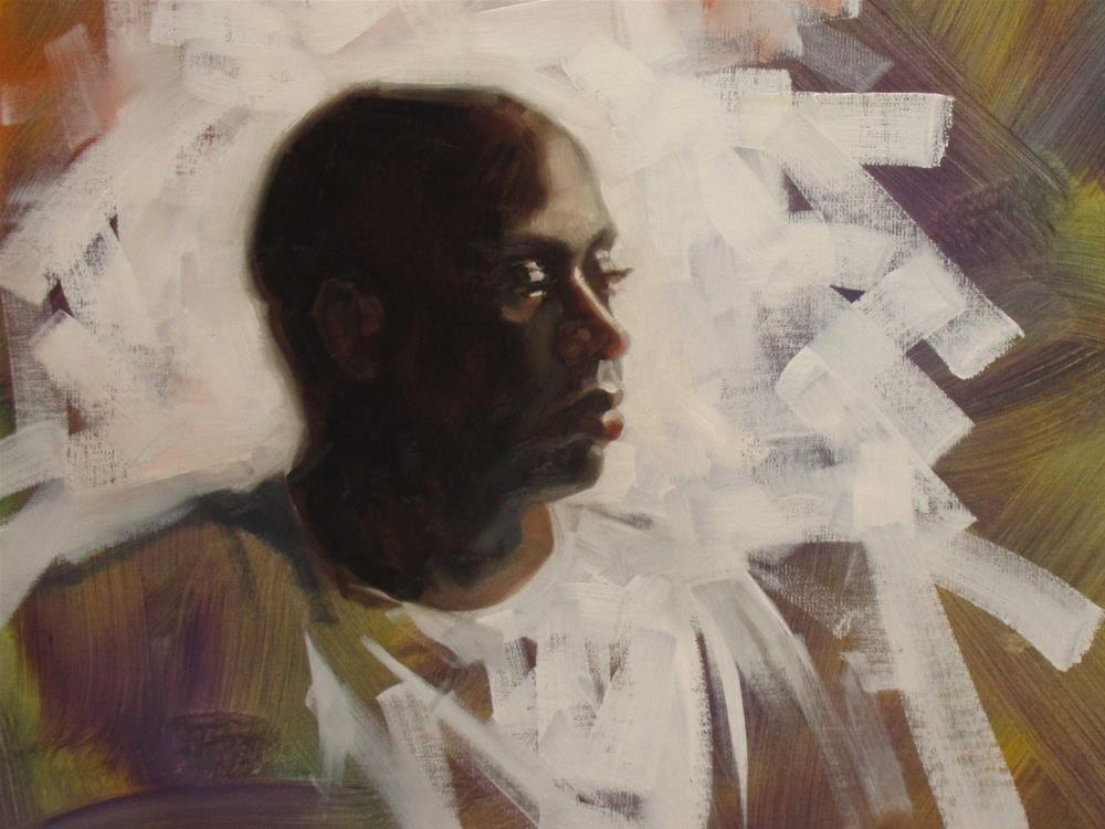"""Lavaski surrounded  16 x 12  oil"" original fine art by Claudia Hammer"