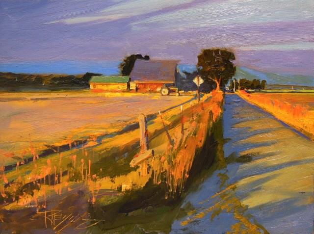 """Evening Glow Skagit County, plein air, oil , landscape painting by Robin Weiss"" original fine art by Robin Weiss"