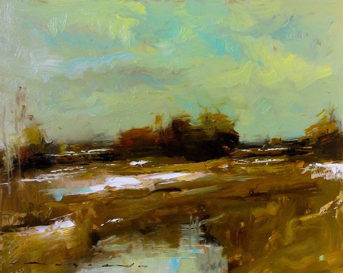 """Snow Fields_003"" original fine art by Angel Angelov"