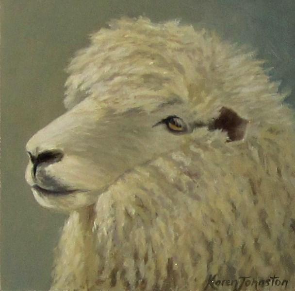 """Winter Coat"" original fine art by Karen Johnston"