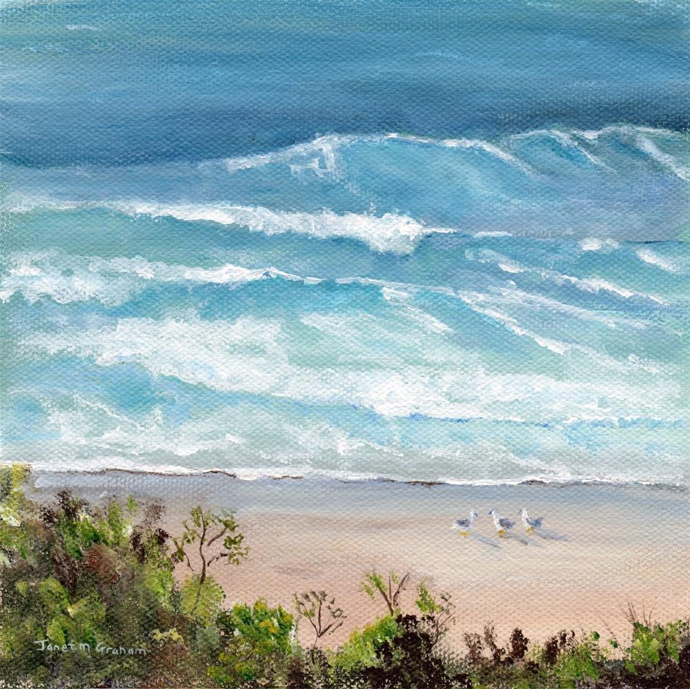 """Marcoola Beach"" original fine art by Janet Graham"