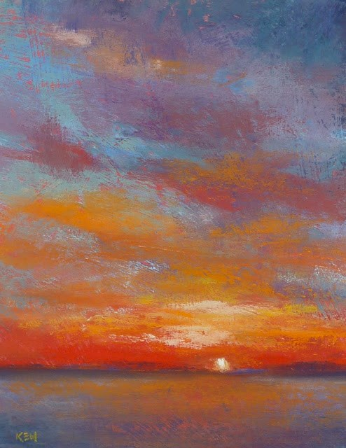 """Drama in the Sky sunset"" original fine art by Karen Margulis"