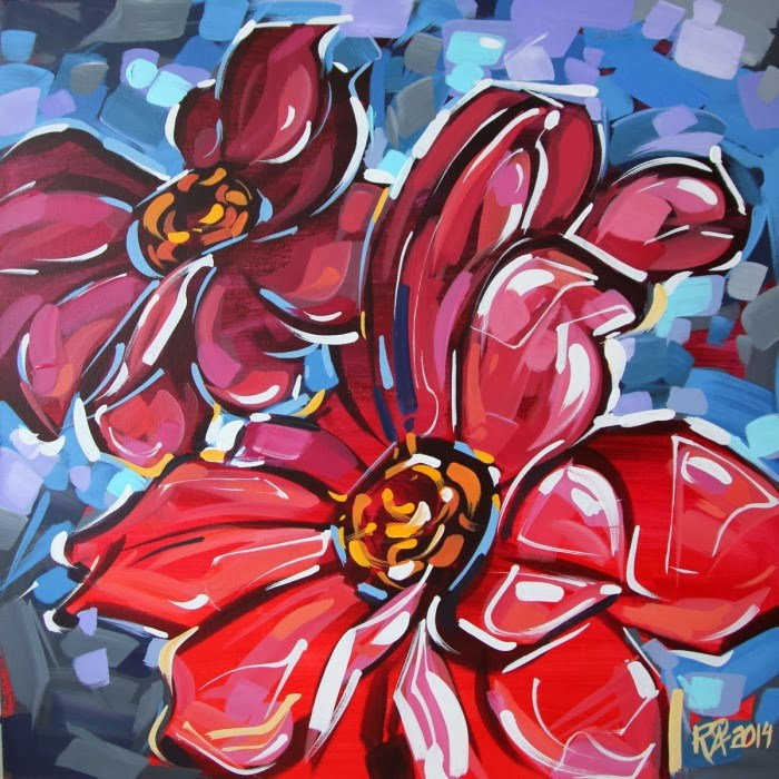 """""""Flower Abstraction 71"""" original fine art by Roger Akesson"""
