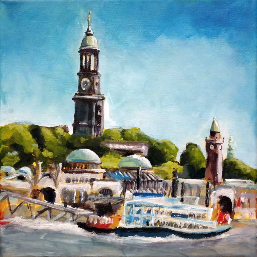"""""""1227 Hamburg"""" original fine art by Dietmar Stiller"""