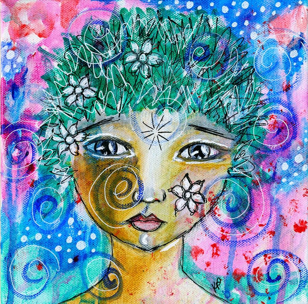 """My Inner Child got the Last Word"" original fine art by Kali Parsons"