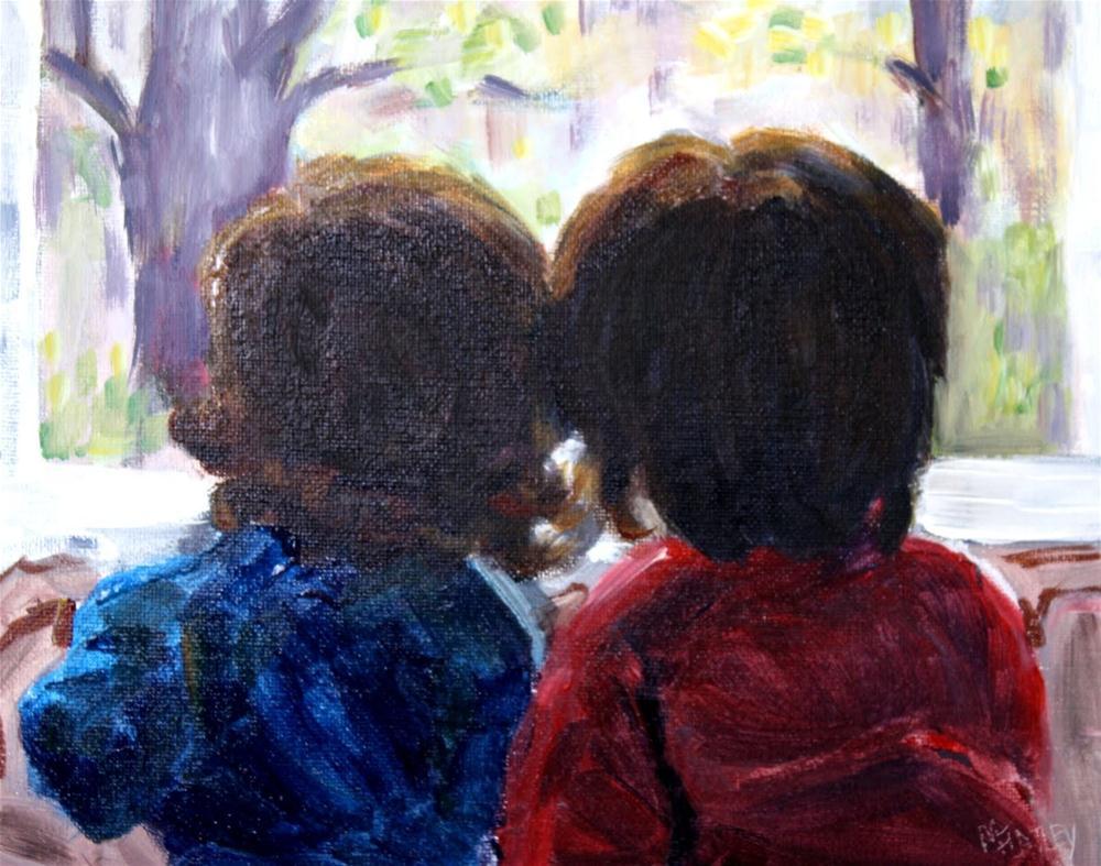 """""""Friends Challenge"""" original fine art by Maggie Flatley"""