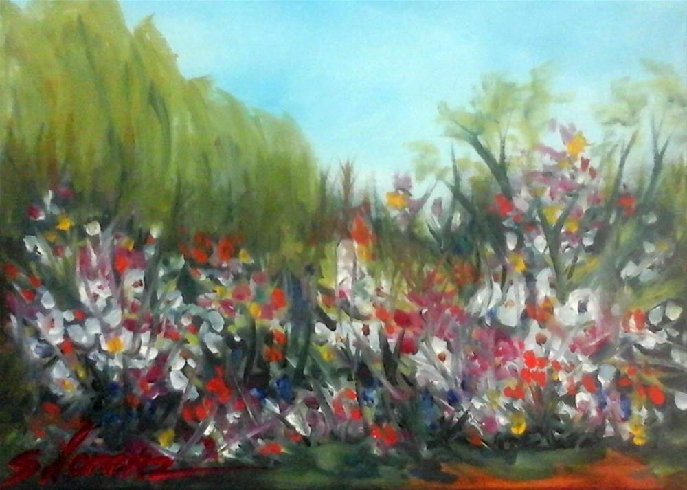 """""""Springtime Flowers"""" original fine art by Sue Lorenz"""