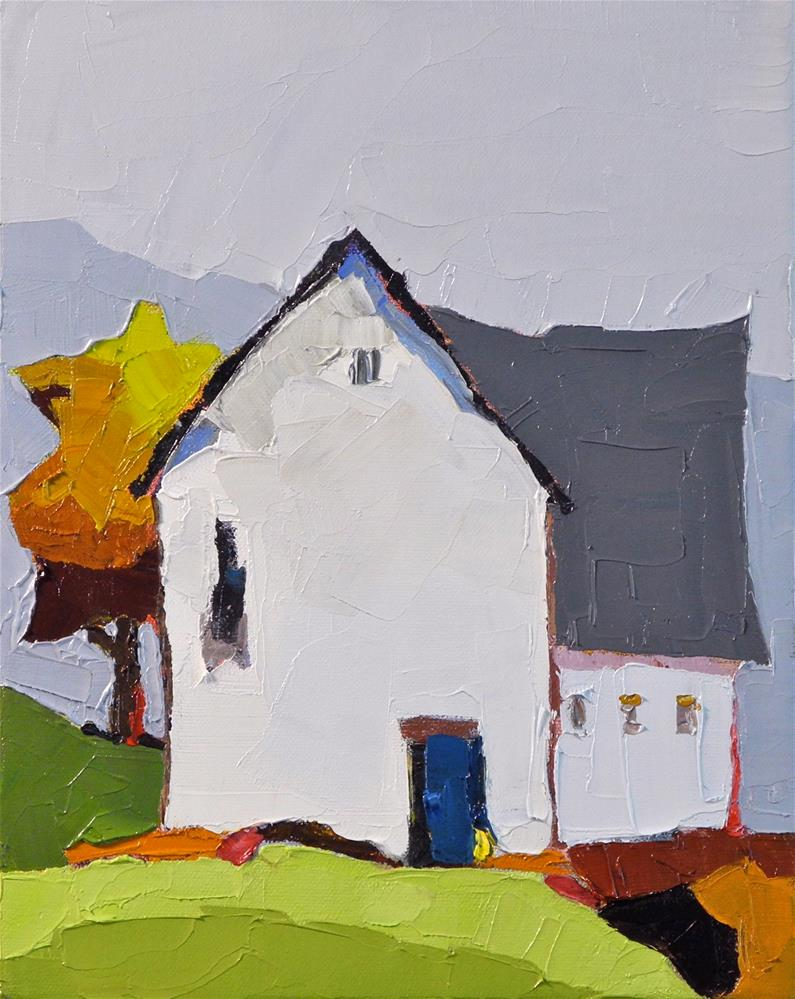 """The Blue Door"" original fine art by Donna Walker"