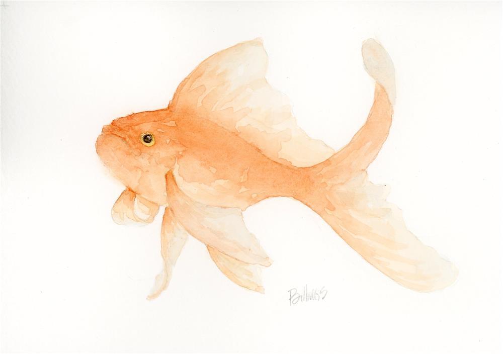 """Goldfish Study V"" original fine art by Susanne Billings"