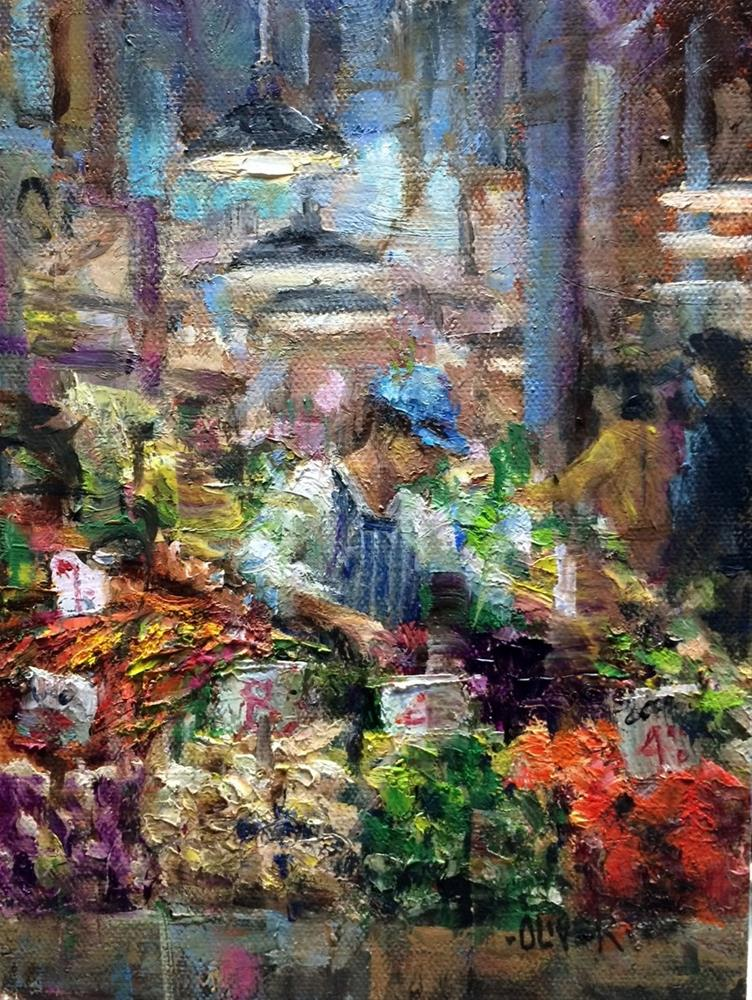 """Pike Place Market - Veggies Galore!"" original fine art by Julie Ford Oliver"