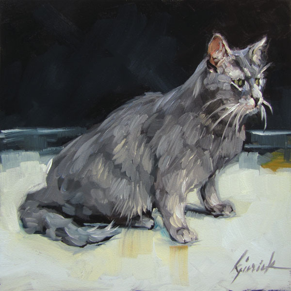 """""""Gatto"""" original fine art by Karin Jurick"""