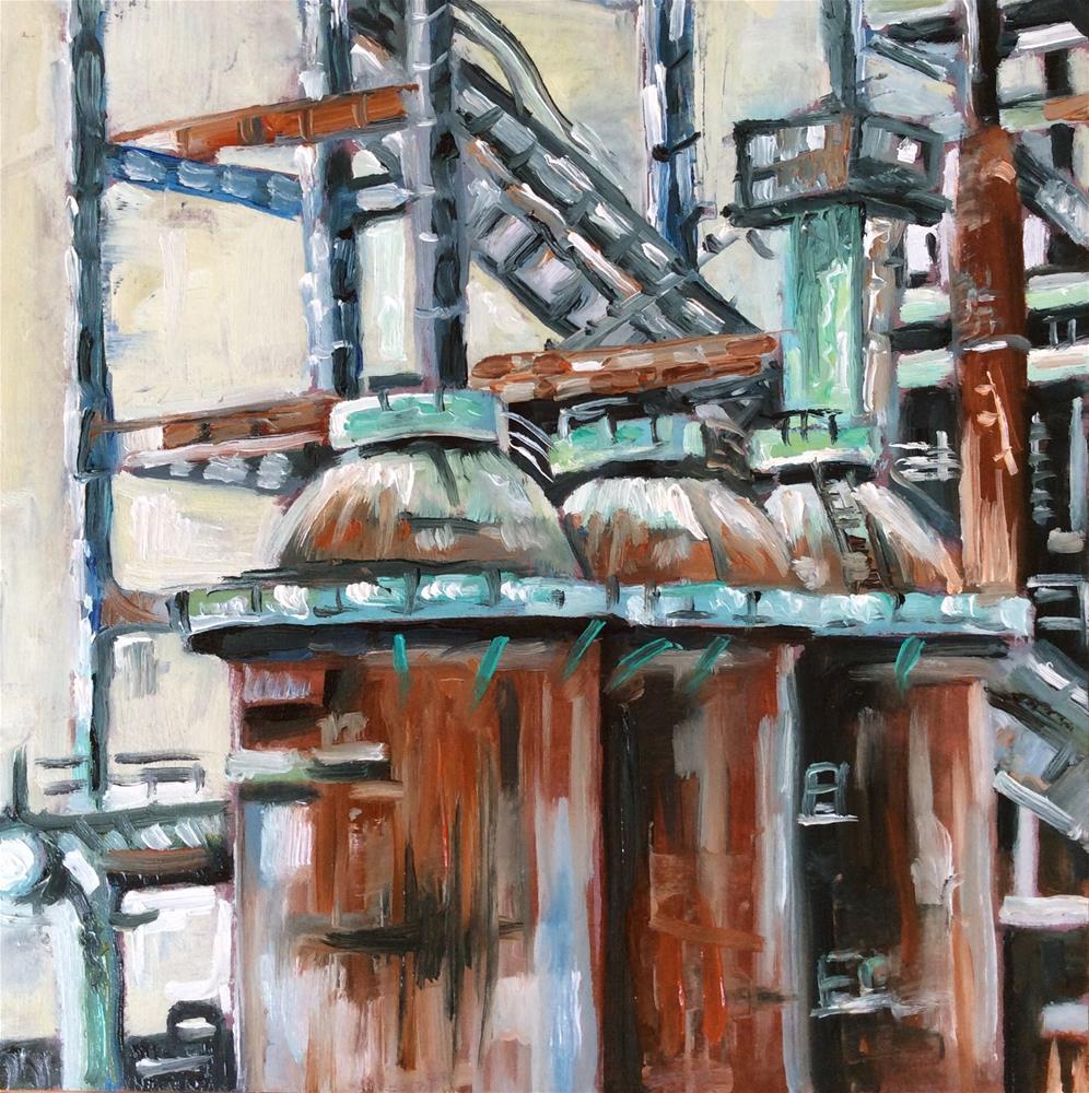 """""""Industriekultur"""" original fine art by Sonja Neumann"""