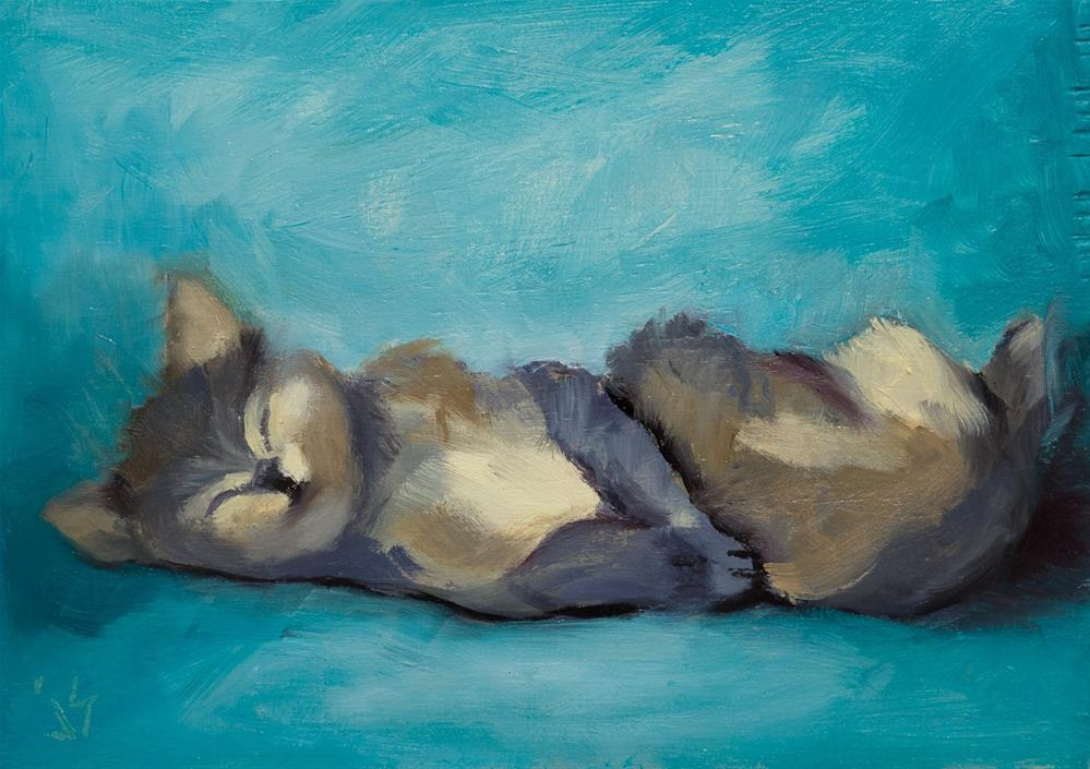 """Couch Potato"" original fine art by Johnna Schelling"