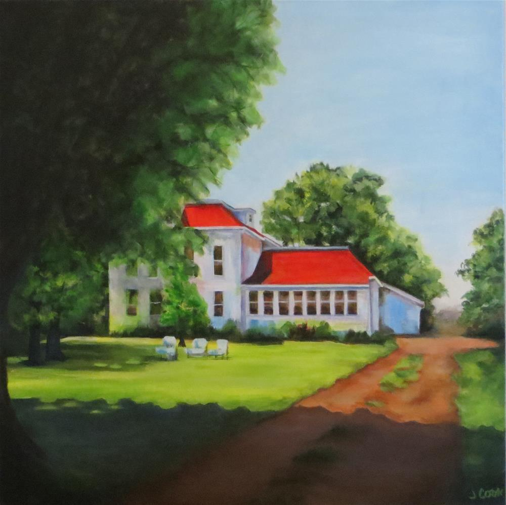 """""""Escape to the Country"""" original fine art by Janice Cook"""