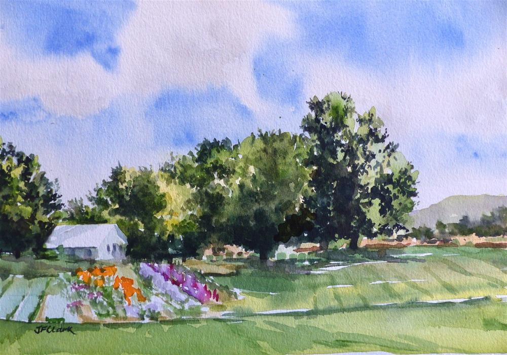 """Country Garden"" original fine art by Judith Freeman Clark"