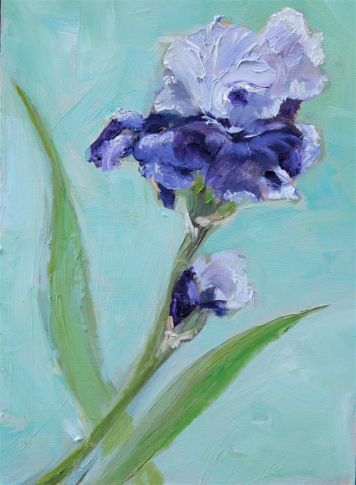 """Purple Iris"" original fine art by Tamsen Armstrong"