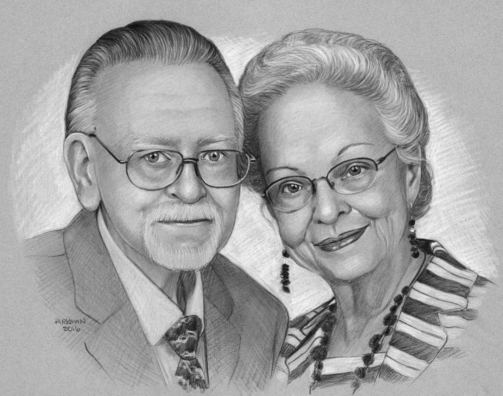 """""""Pencil Portrait Commissions (and new site in the works!)"""" original fine art by Rita Kirkman"""