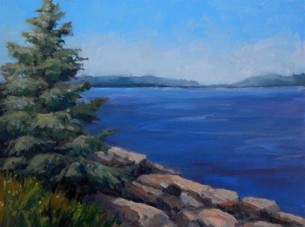 """At Marshall Point"" original fine art by Lisa Kyle"