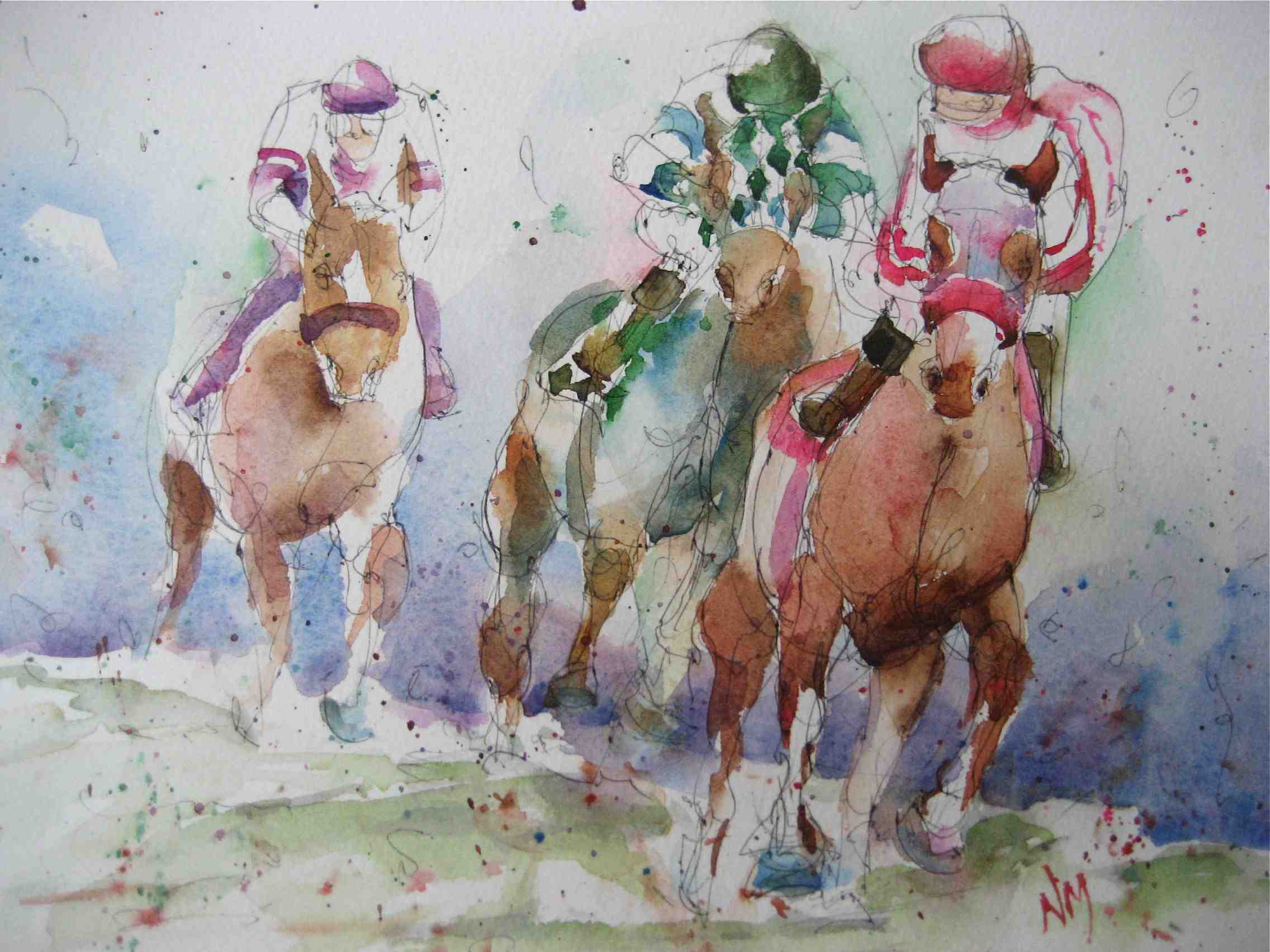 """Hold Your Horses"" original fine art by Nora MacPhail"