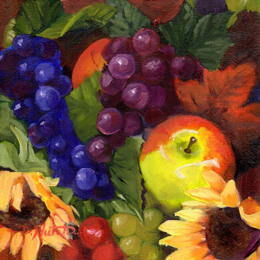 """""""Flowers and Fruit #1"""" original fine art by Diane Hutchinson"""
