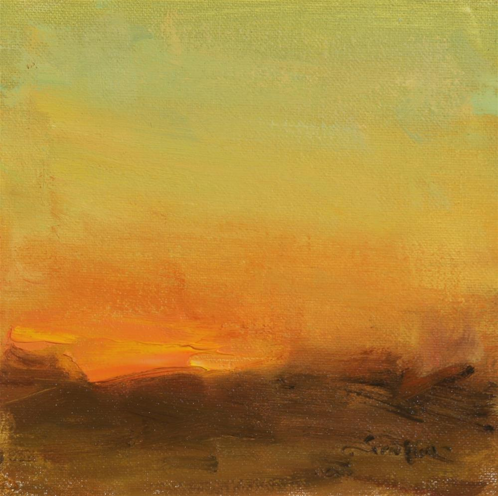 """Fall Sunrise 02"" original fine art by Scott Serafica"