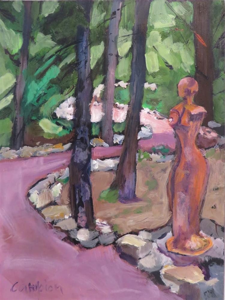 """""""638 In the Garden"""" original fine art by Diane Campion"""
