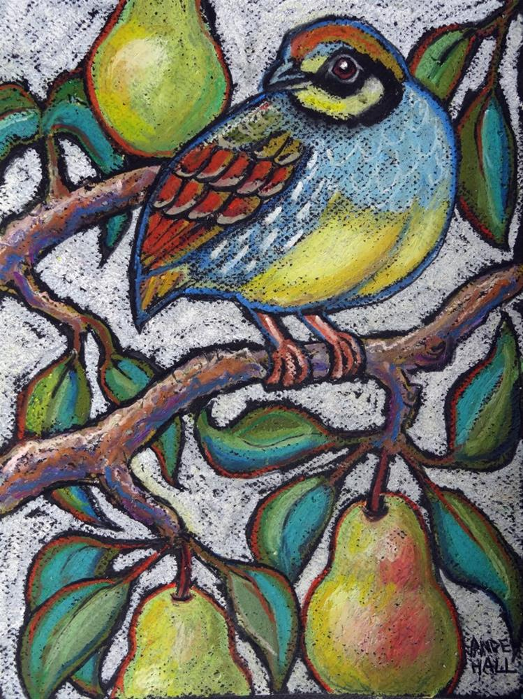 """Taiwan Partridge in a Pear Tree"" original fine art by Ande Hall"
